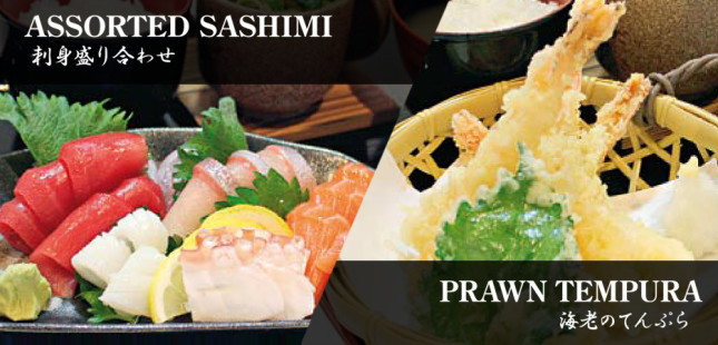 AssortedSashimi-PrawnTempura